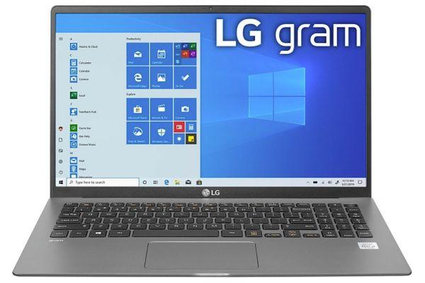 "Large image of LG Gram 15.6"" Dark Silver Notebook Intel i5-1035G7 8GB RAM 256GB SSD, Intel Iris Plus Graphics - 15Z90NUARS5U1"
