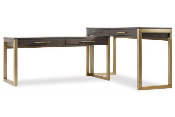 Large image of Hooker Furniture Curata Dark Wood 2 Piece Desk Set - 1600-10453-DKW