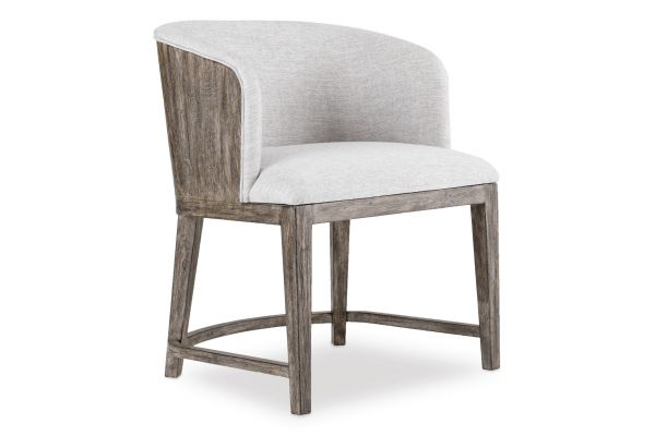 Large image of Hooker Furniture Curata Montileu Opal Upholstered Dining Chair - 1600-75800A-MWD