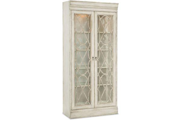 Large image of Hooker Furniture Dining Room Arabella Bunching Display Cabinet - 1610-75906-WH