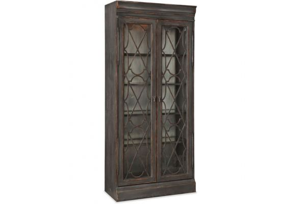 Large image of Hooker Furniture Dining Room Arabella Bunching Display Cabinet - 1610-75906A-GRY