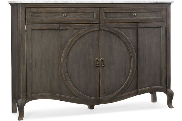Hooker Furniture Living Room Arabella Four-Door Two-Drawer Credenza - 1610-85005-GRY