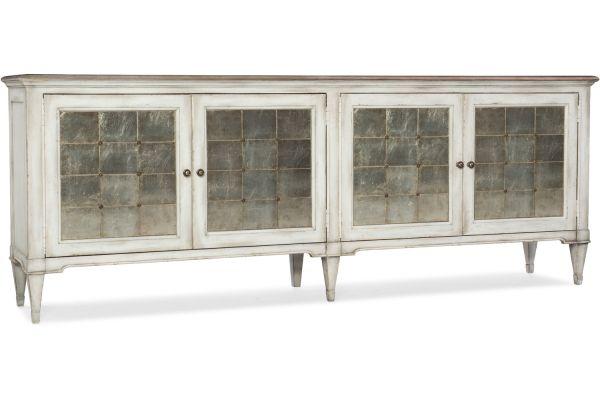 Large image of Hooker Furniture Living Room Arabella Four-Door Credenza - 1610-85006-WH