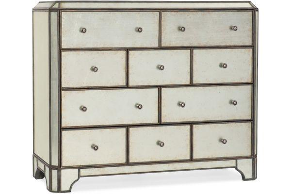 Large image of Hooker Furniture Bedroom Arabella Ten-Drawer Bureau - 1610-90011-EGLO