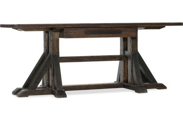 Large image of Hooker Furniture Home Office Roslyn County Trestle Desk - 1618-10459-DKW