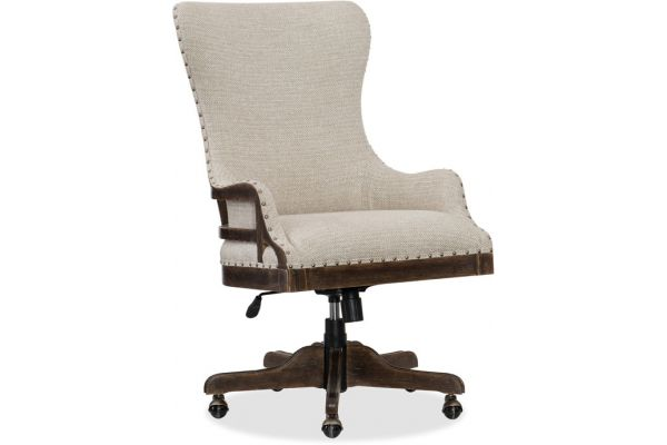 Large image of Hooker Furniture Home Office Roslyn County Deconstructed Tilt Swivel Chair - 1618-30220-DKW