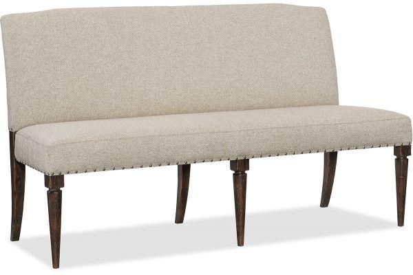 Large image of Hooker Furniture Dining Room Roslyn County Upholstered Dining Bench - 1618-75019-DKW