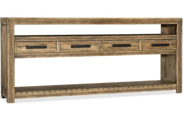 Large image of Hooker Furniture Living Room Roslyn County Console Table - 1618-80161-MWD