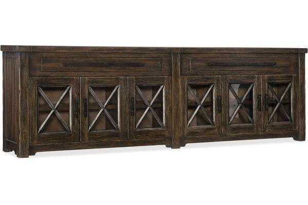 Large image of Hooker Furniture Living Room Roslyn County Credenza - 1618-85001-DKW