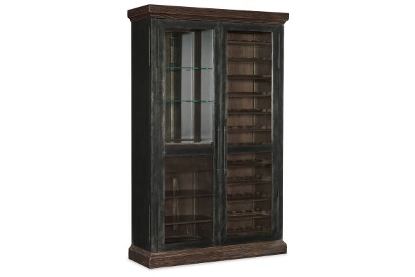 Large image of Hooker Furniture Roslyn County Dark Walnut Wine Cabinet - 1618-75917-DKW