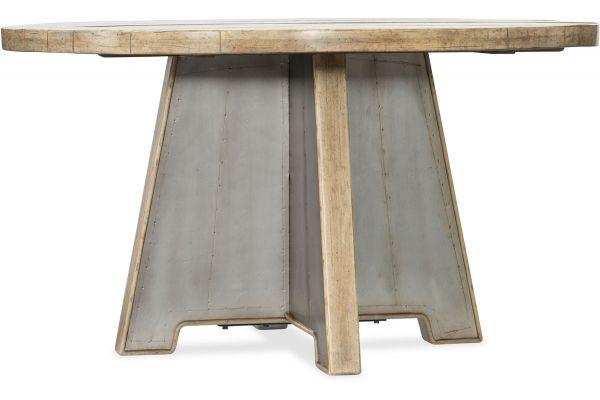 "Hooker Furniture Dining Room Urban Elevation 54"" Metal Dining Table - 1620-75213-LTBR"