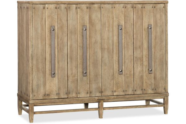Hooker Furniture Home Entertainment Urban Elevation Four-Door Credenza - 1620-85004-LTBR