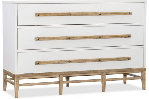 Large image of Hooker Furniture Bedroom Urban Elevation Three-Drawer Bachelors Chest - 1620-90101-WH