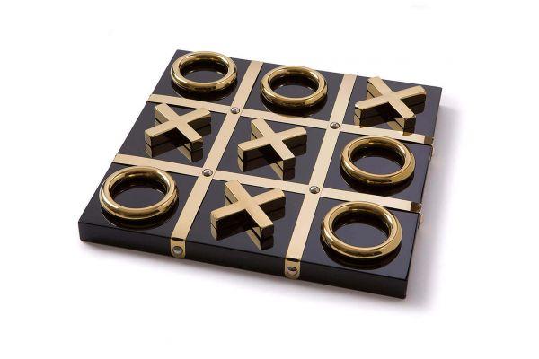 Aurosi Black And Gold Tic Tac Toe - 1647A
