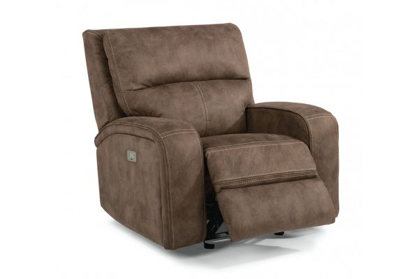 Large image of Flexsteel Nirvana Saddle Fabric Power Recliner With Power Headrests - 1650-50PH-136-72