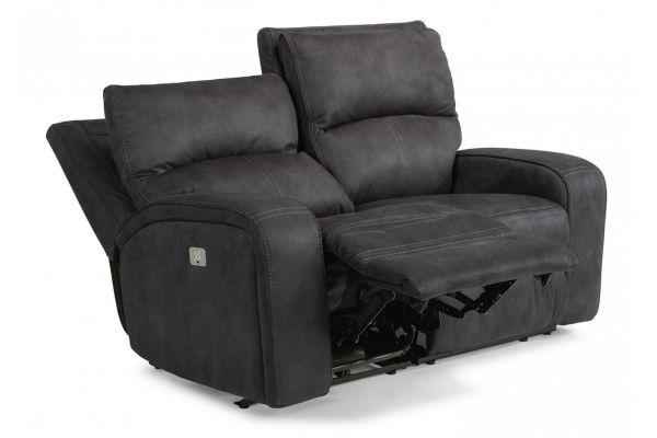 Large image of Flexsteel Nirvana Fabric Power Reclining Loveseat With Power Headrests - 1650-60PH-136-04