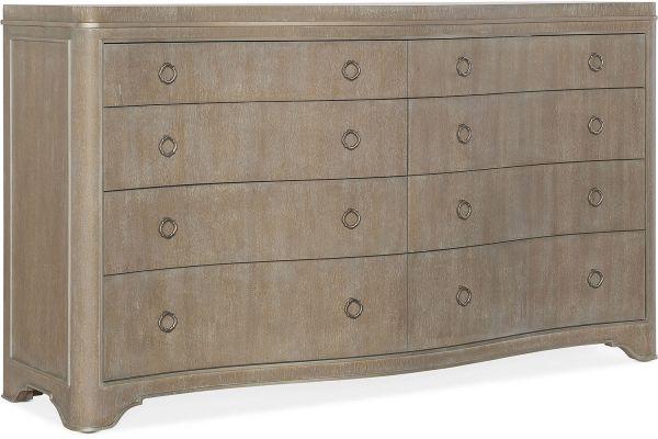 Large image of Hooker Furniture Bedroom Modern Romance Eight-Drawer Dresser - 1652-90001-MWD