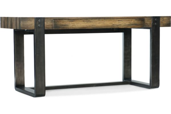Large image of Hooker Furniture Home Office Crafted Leg Desk - 1654-10458-DKW1