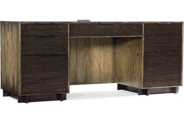 Large image of Hooker Furniture Home Office Crafted Computer Credenza - 1654-10464-DKW1