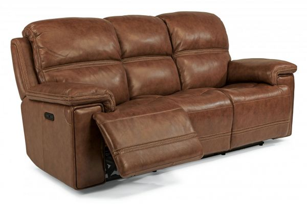 Large image of Flexsteel Fenwick Leather Power Reclining Sofa With Power Headrests - 1659-62PH-204-72