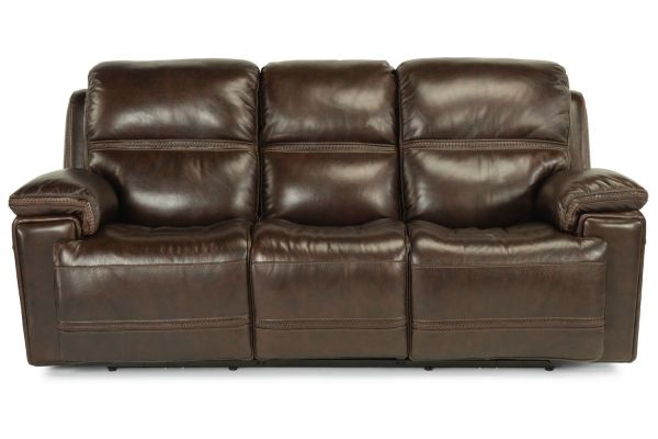 Large image of Flexsteel Fenwick Leather Power Reclining Sofa With Power Headrests - 1659-62PH-204-70