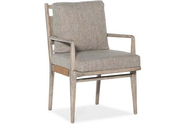 Large image of Hooker Furniture Dining Room Amani Upholstered Arm Chair - 1672-75302-80