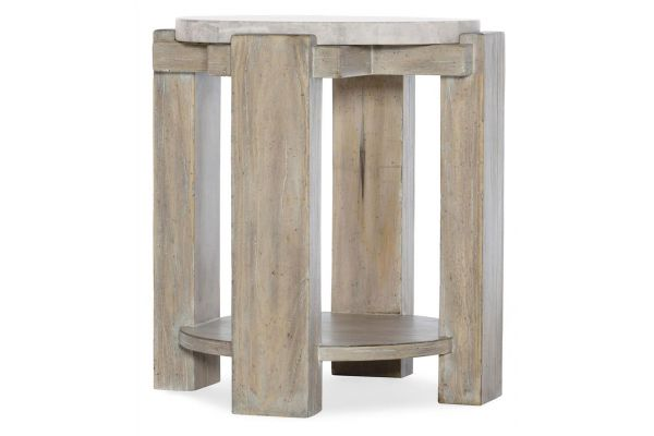 Large image of Hooker Furniture American Life Amani Round End Table - 1672-80116-00