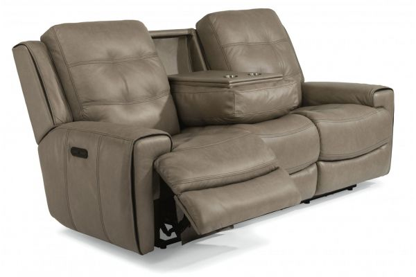 Large image of Flexsteel Wicklow Power Reclining Sofa With Power Headrests - 1681-62PH-326-82