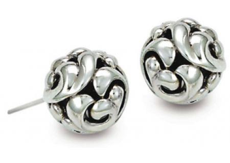Charles Krypell Ivy Sterling Silver Earrings - 1-6830-S11