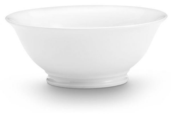 Large image of Pillivuyt 1 Qt. Classic Footed Bowl - 170122BL