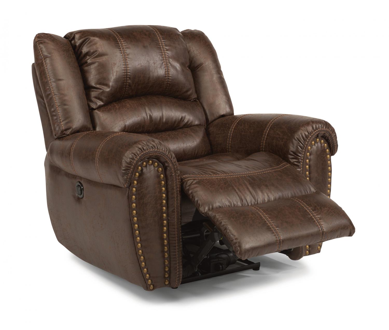 Flexsteel downtown fabric power recliner 1710 50p 349 70