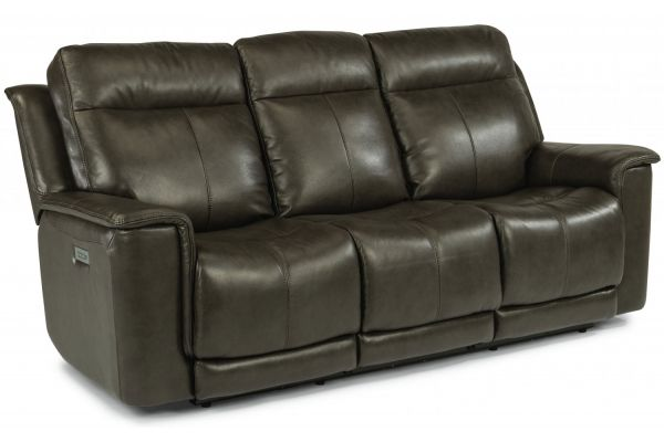 Large image of Flexsteel Miller Leather Power Reclining Sofa With Power Headrests & Lumbar - 1729-62PH-204-04