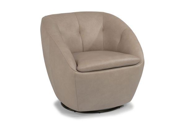 Large image of Flexsteel Wade Leather Swivel Chair - 1855-11-637-01