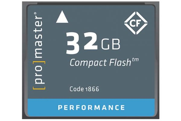 Large image of ProMaster Performance 32GB Compact Flash Memory Cards - 1866