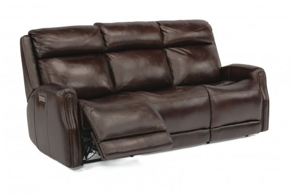 Large image of Flexsteel Stanley Power Reclining Sofa With Power Headrests - 1897-62PH-077-70
