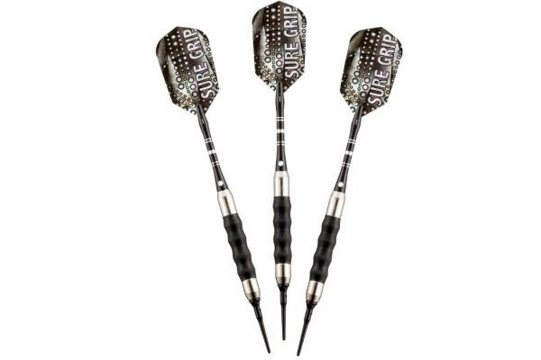 Large image of Viper By GLD Products 16g Sure Grip Black Soft Tip Darts - 20-0006-16