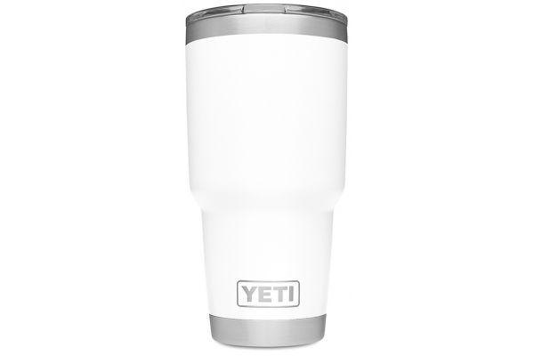 Large image of YETI White 30 Oz Rambler With MagSlider Lid - 21070070024