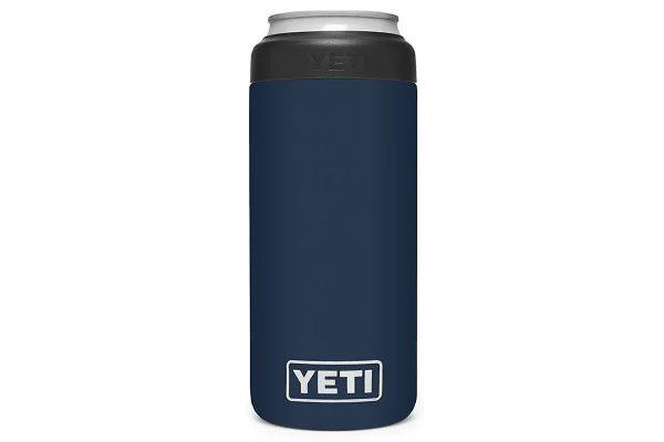 Large image of YETI Navy 12 Oz Rambler Colster Slim Can Insulator - 21070090037