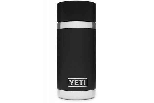 Large image of YETI Black Rambler 12 Oz Bottle With HotShot Cap - 21071050006