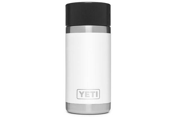 Large image of YETI White Rambler 12 Oz Bottle With HotShot Cap - 21071050009