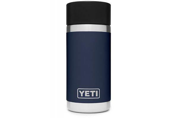 Large image of YETI Navy Blue Rambler 12 Oz Bottle With HotShot Cap - 21071050010