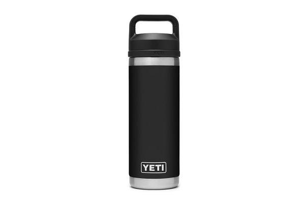 Large image of YETI Black 18 Oz Bottle With Chug Cap - 21071060018
