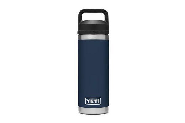 Large image of YETI Navy 18 Oz Bottle With Chug Cap - 21071060021