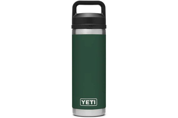 Large image of YETI Northwoods Green 18 Oz Bottle With Chug Cap - 21071060033
