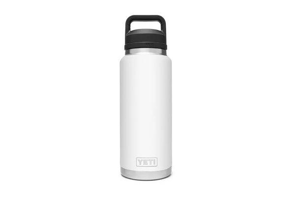 Large image of YETI Rambler White 36 Oz Bottle With Chug Cap - 21071070016