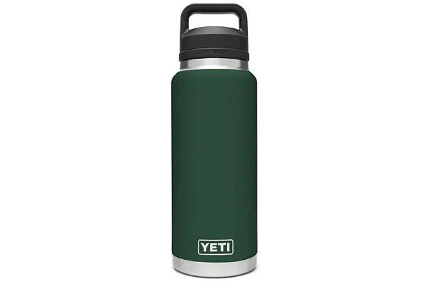 Large image of YETI Northwoods Green 36 Oz Bottle With Chug Cap - 21071070029