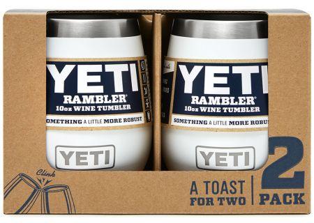 YETI White 10 Oz Rambler Wine Tumbler 2-Pack - 21071300195
