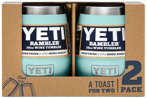 Large image of YETI 10 Oz Rambler Seafoam Wine Tumbler 2-Pack - 21071300196