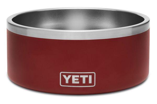 Large image of YETI Brick Red Boomer 8 Dog Bowl - 21071500001