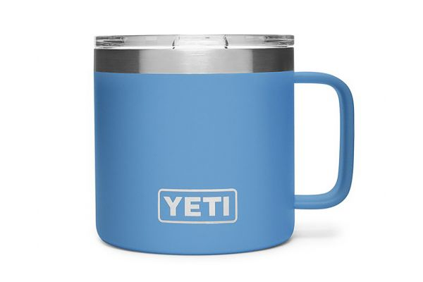 Large image of YETI Pacific Blue 14 Oz Rambler Mug - 21071500242